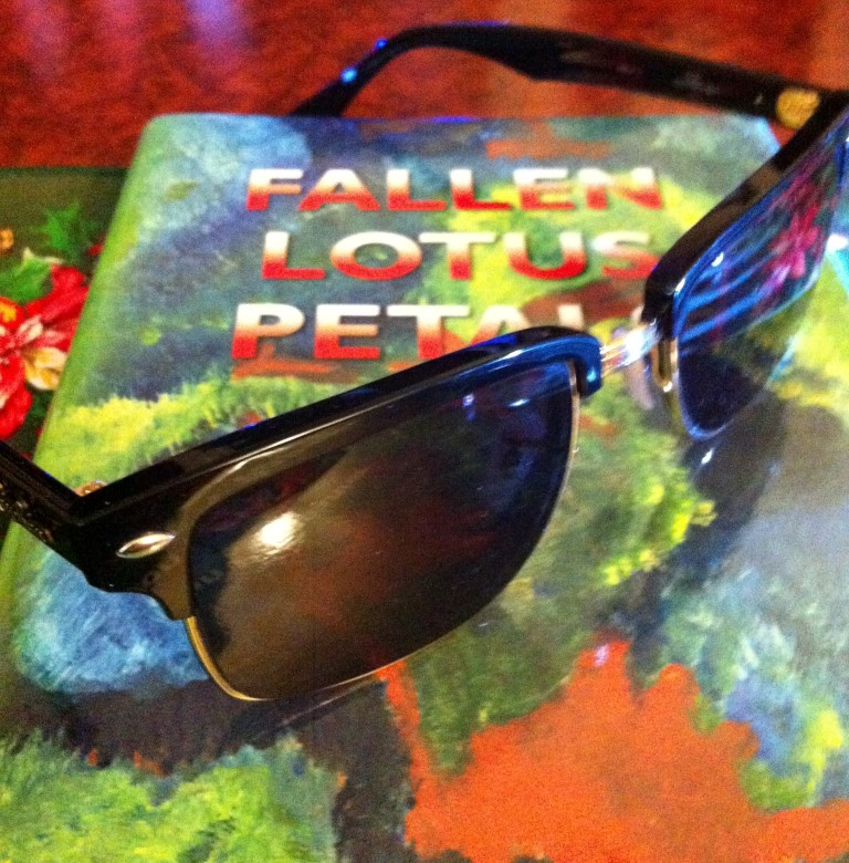 Get your Ray Bans on for some hot reading, Fallen Lotus Petals